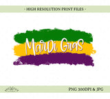 Mardi Gras Sublimation/Printable Design, Hand drawn PNG