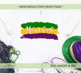 Mardi gras png brush strokes png sublimation printable design