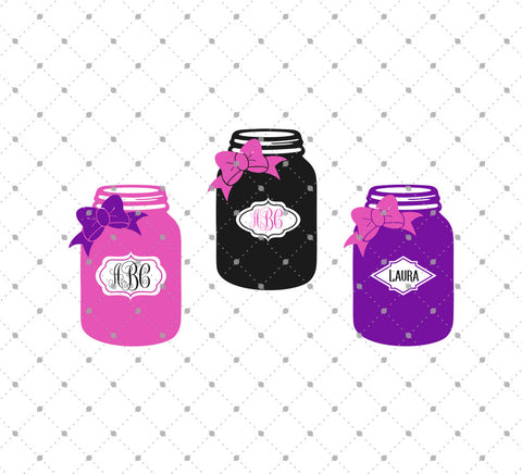 Mason Jar SVG Cut Files