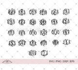 SVG files for Cricut Master Circle Monogram Font Svg Cut Files Silhouette Studio3 files PNG clipart free svg by SVG Cut Studio