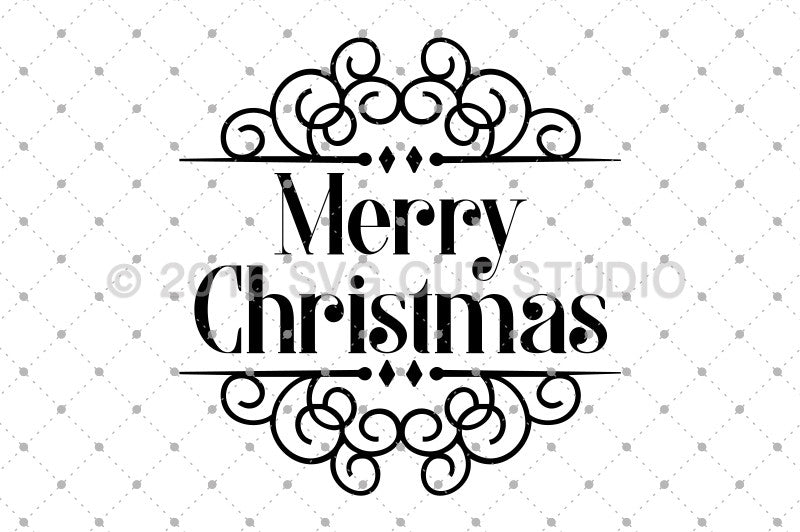 Merry Christmas SVG Cut Files for Cricut Silhouette printable png dxf clipart and free svg files by SVG Cut Studio