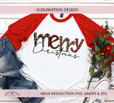 Merry Sublimation Design, Christmas PNG, Hand drawn PNG
