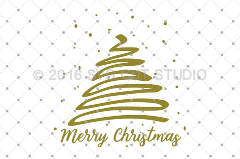 Merry Christmas Tree svg files at SVG Cut Studio