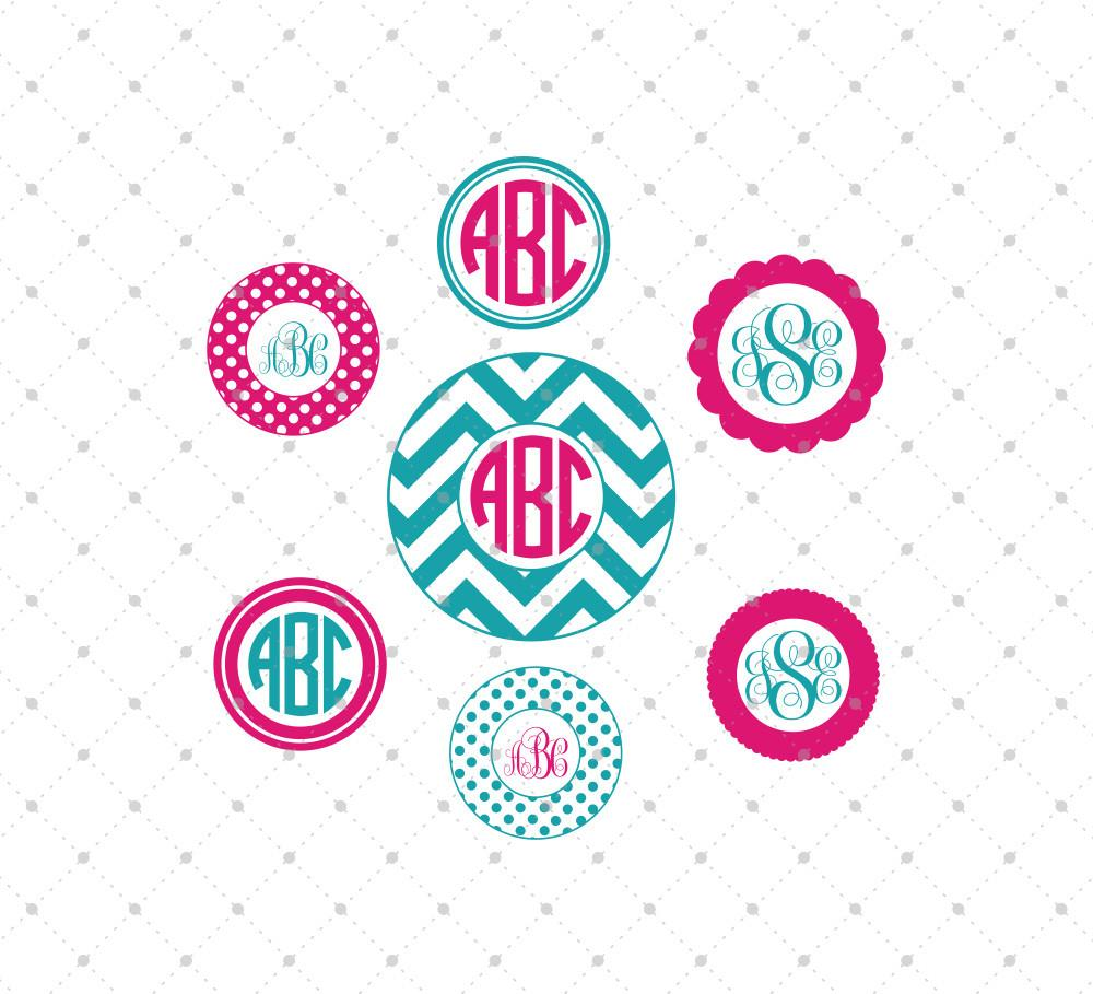 Circle monogram frame SVG Files for Cricut Explore Silhouette Cameo Etsy svg files - SVG Cut Studio