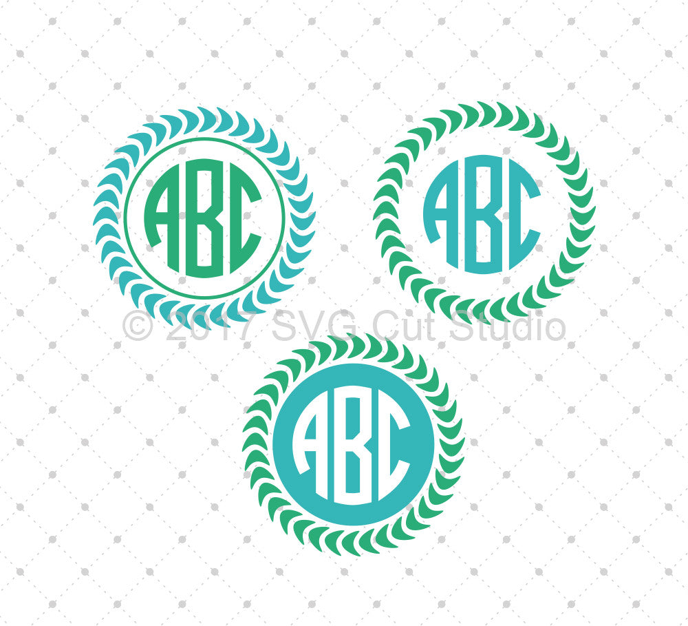 SVG Cut Files for Cricut and Silhouette - Monogram Frame SVG Files ...