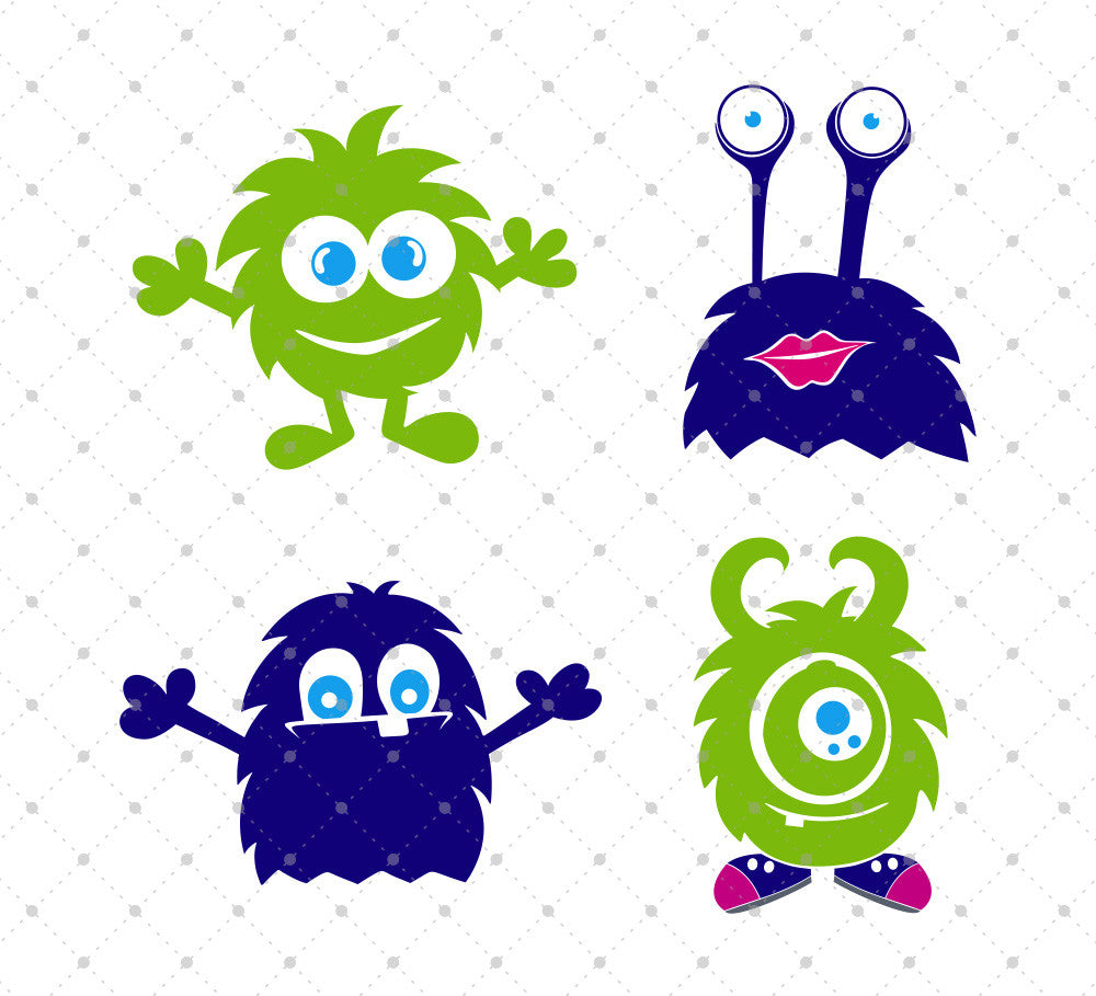 Monsters SVG Cut Files - SVG Cut Studio