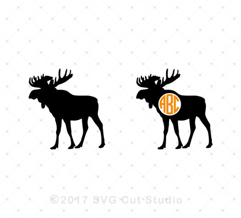 Moose SVG Cut Files - SVG DXF PNG cut cutting files for Cricut and Silhouette by SVG Cut Studio