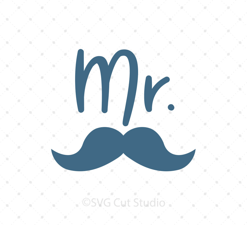 Mr Moustache SVG PNG DXF EPS Files