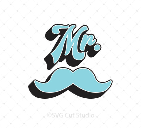 Mr Moustache SVG PNG DXF EPS Files v2 for Cricut Silhouette printable png dxf clipart and free svg files by SVG Cut Studio