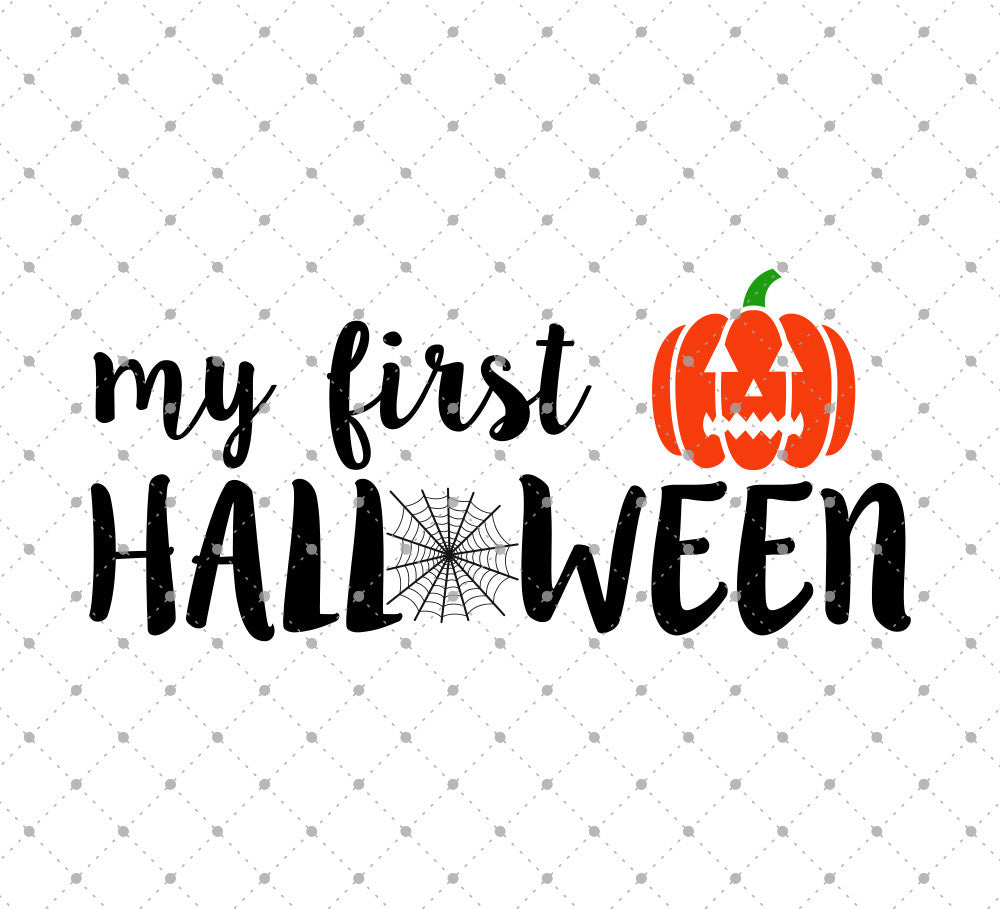 My First Halloween SVG Cut Files
