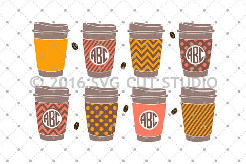 Paper Coffee Cup SVG Cut Files