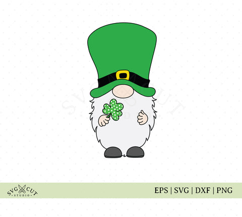 Patricks Day Gnome SVG