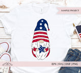 4th of July Patriotic Gnome SVG Files
