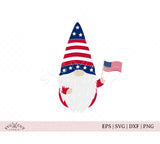 4th of July Gnome svg cut files