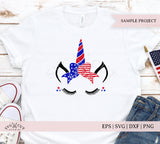 4th of July Bow Unicorn SVG Files