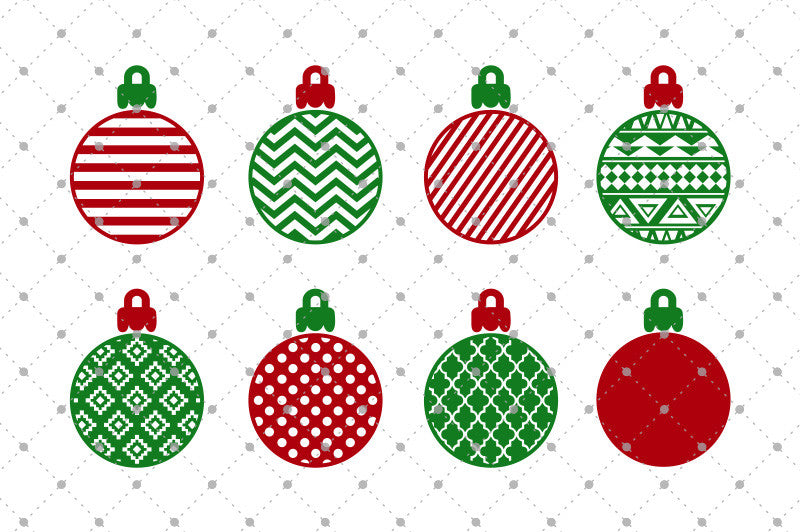 Patterned Christmas Balls SVG Cut Files - SVG Cut Studio