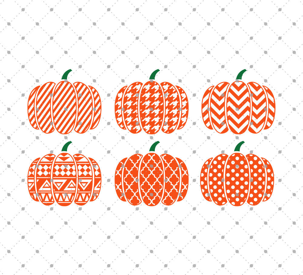 Patterned Pumpkin SVG Cut Files