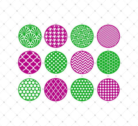 Circle Patterns SVG Cut Files for Cricut Silhouette printable png dxf clipart and free svg files by SVG Cut Studio