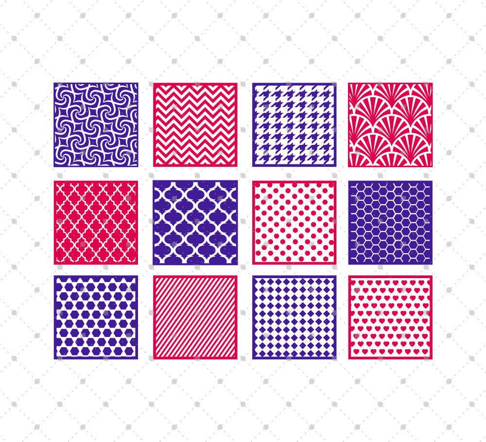 Patterned Square SVG Cut Files