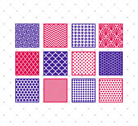 Patterned Square SVG Cut Files - SVG DXF PNG cut cutting files for Cricut and Silhouette by SVG Cut Studio