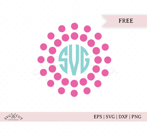 Pearls Monogram Frame SVG Cut Files