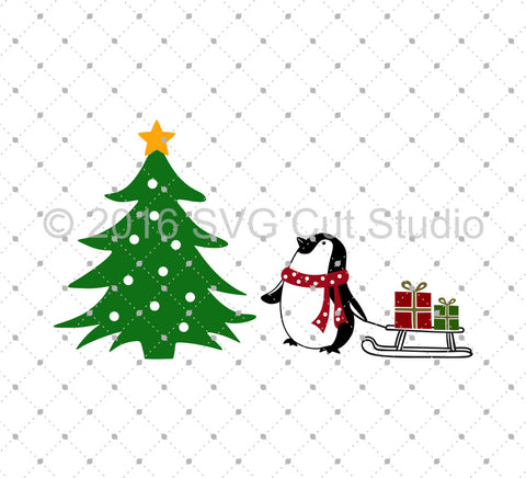 Penguin Christmas SVG Cut files at SVG Cut Studio