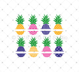 Pineapple SVG Cut Files for Cricut Silhouette printable png dxf clipart and free svg files by SVG Cut Studio