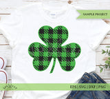 bufalo plaid shamrock svg files