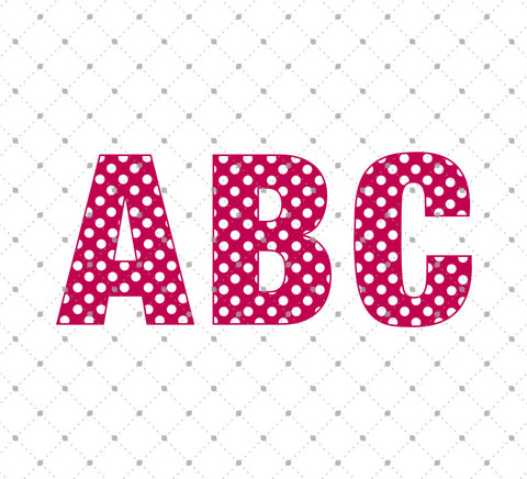 Polka Dot Alphabet SVG Cut Files - SVG Cut Studio