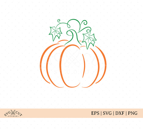 Pumpkin Outline SVG Files
