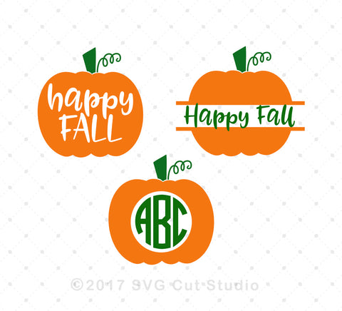 Pumpkin Monogram Frames SVG Cut Files D4