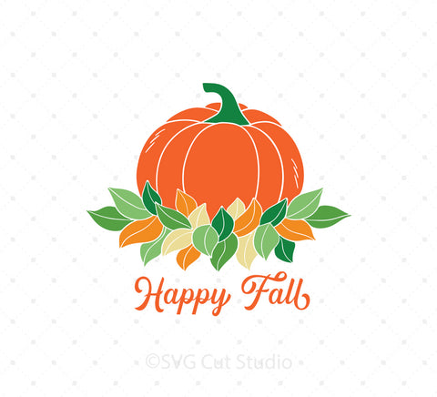 Fall SVG Cut Files, Pumpkin SVG Files for Cricut Silhouette printable png dxf clipart and free svg files by SVG Cut Studio