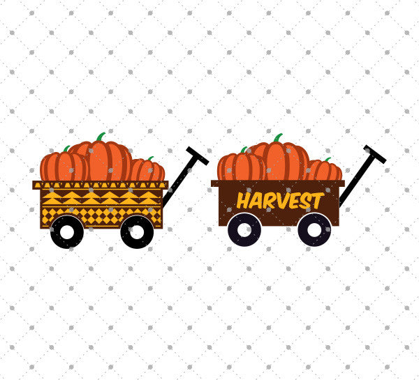 Pumpkin Wagon SVG Cut Files - SVG DXF PNG cut cutting files for Cricut and Silhouette by SVG Cut Studio