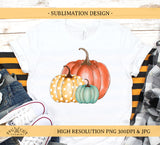 Pumpkin Sublimation Design