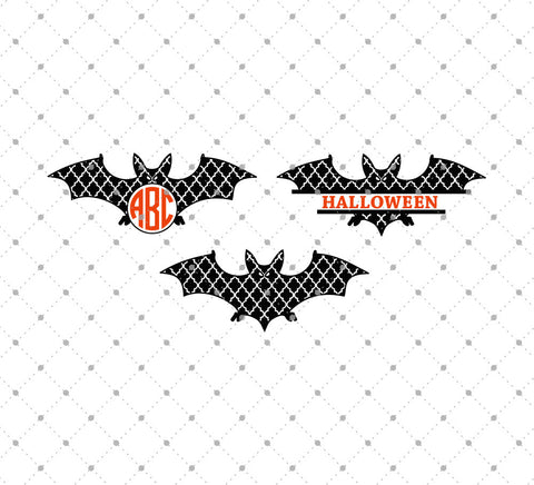 Quatrefoil Halloween Bats SVG Cut Files