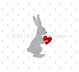 Rabbit in Love SVG Cut Files - SVG Cut Studio