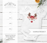 Christmas deer svg files for Cricut and Silhouette
