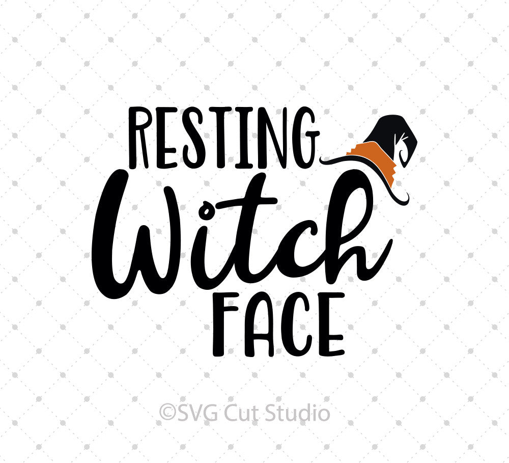 Resting Witch Face SVG Cut Files