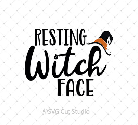 SVG files for Cricut Resting Witch Face SVG Cut Files Silhouette Studio3 files PNG clipart free svg by SVG Cut Studio