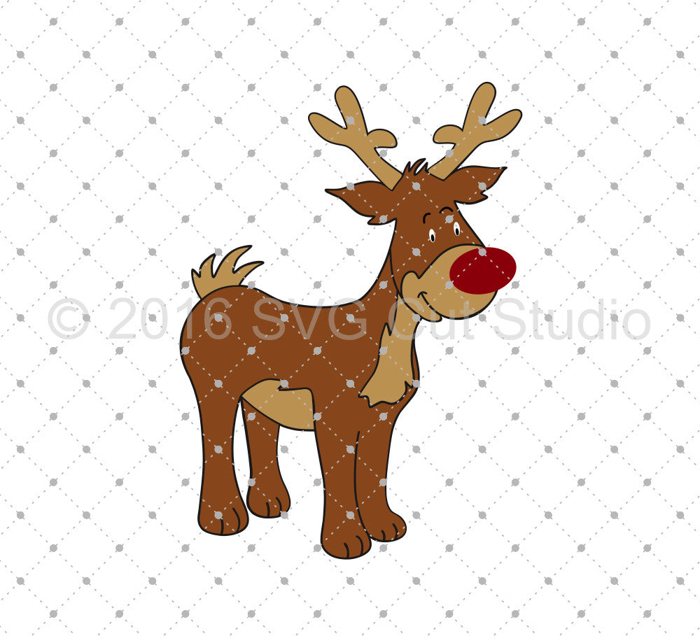 Rudolph SVG Cut Files - SVG Cut Studio