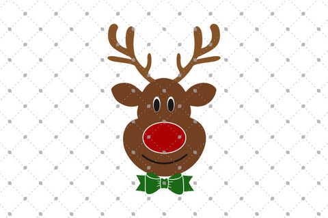 SVG files for Cricut Rudolph Reindeer SVG Cut Files Silhouette Studio3 files PNG clipart free svg by SVG Cut Studio