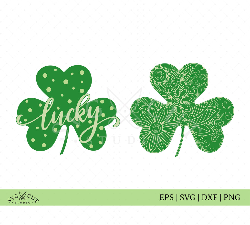 St Patricks Day Lucky Shamrock SVG Files
