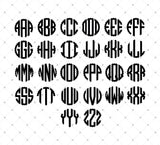 scalloped circle monogram font installable download ttf otf format for cricut silhouette