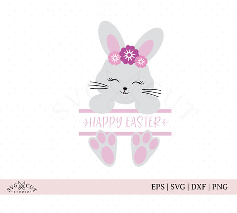 Split Easter Bunny SVG