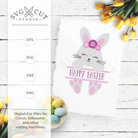 Split Easter Bunny SVG Cut Files