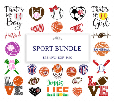 Sport Bundle SVG Cut Files