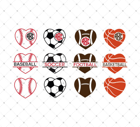 Sport SVG Cut Files - SVG DXF PNG cut cutting files for Cricut and Silhouette by SVG Cut Studio