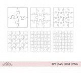 Square Puzzle Templates SVG