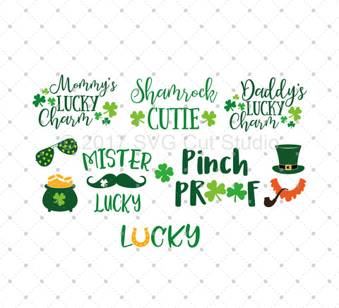 St Patrick's Day SVG Cut Files for Cricut Silhouette printable png dxf clipart and free svg files by SVG Cut Studio