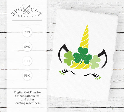 St Patricks Day Unicorn SVG Files